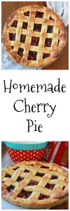 Homemade Cherry Pie is decadent with a fabulously crust ! www.cookingwithruthie.com