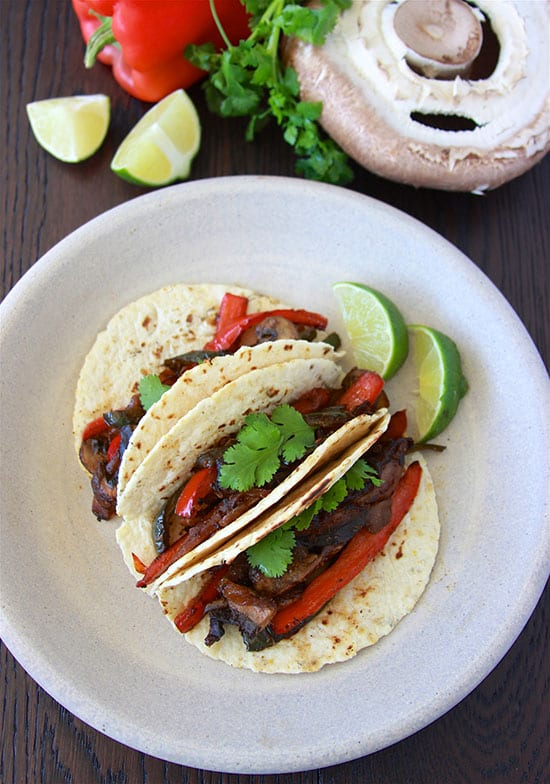 Portabella Fajitas are flavorful veggie dinner that the whole family will love- feel free to add your favorite protein too! www.cookingwithruthie.com
