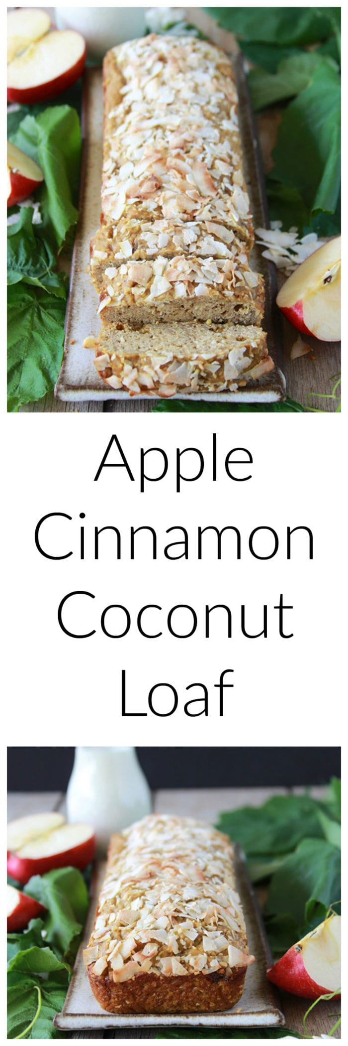 Apple Cinnamon Coconut Loaf is going to make your autumn baking even more AHhmazing!  www.cookingwithruthie.com
