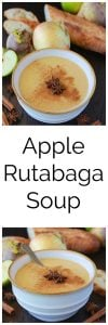 Apple Rutabaga Soup is a sweet and savory delight- it's a must make this fall! www.cookingwithruthie.com