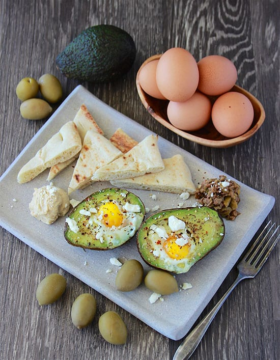 Mediterranean Baked Eggs in Avocado Recipe is a simple and healthy recipe for the whole family to enjoy!