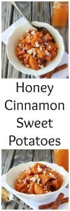 Honey Cinnamon Sweet Potatoes will be your favorite autumn side dish! www.cookingwithruthie.com