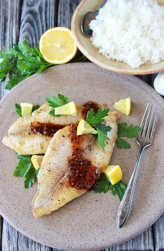 Panfried Catfish with Sweet Chili Garlic Sauce is southern comfort food at it's finest! www.cookingwithruthie.com