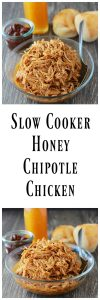 Slow Cooker Honey Chipotle Chicken is a simple slow cooker dinner the whole family will love! www.cookingwithruthie.com