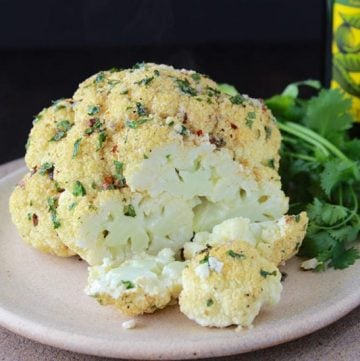 Southwest Roasted Cauliflower is the tastiest and easiest side dish to make! www.cookingwithruthie.com