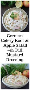 German Celery Root and Apple Salad with Dill Mustard Dressing and highlights from our recent trip to Hamburg, Germany! www.cookingwithruthie.com