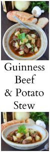 Our Guinness Beef and Potato Stew is a winter must-try plus highlights from my trip to the Guinness Storehouse in Dublin, Ireland! #cookingwithruthie.com