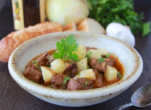 Our Guinness Beef and Potato Stew is a winter must-try plus highlights from my trip to the Guinness Storehouse in Dublin, Ireland!#cookingwithruthie.com