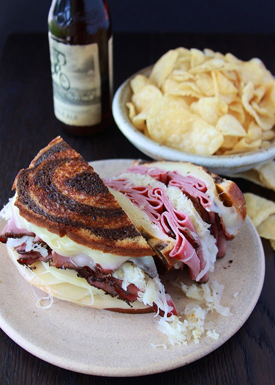 The Ultimate Reuben Sandwich will rock everyone of your tastebuds! www.cookingwithruthie.com