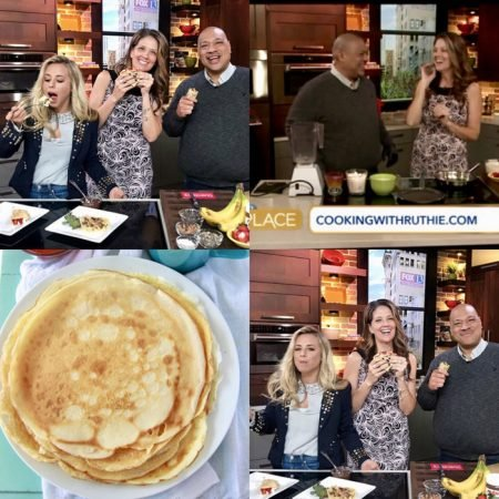 Pâte à Crêpes on FOX13 The Place will win the heart of your loved ones! www.cookingwithruthie.com