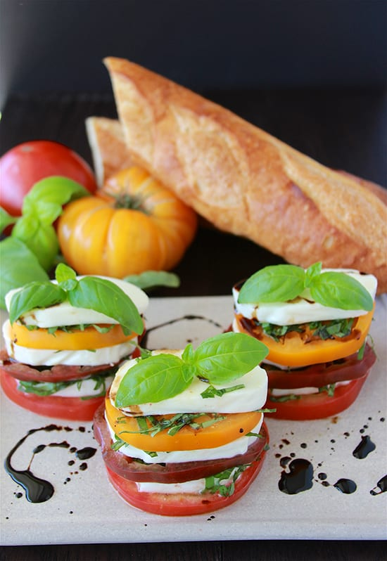 Caprese Salad & Roma, Italia are both deliciously wonderful! www.cookingwithruthie.com #italy