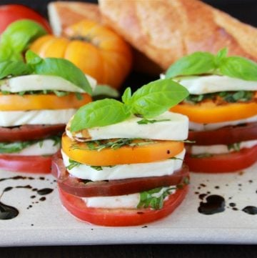 Insalata Caprese & Roma, Italia are both deliciously wonderful. Two of my very favorites are together in todays post! by www.cookingwithruthie.com