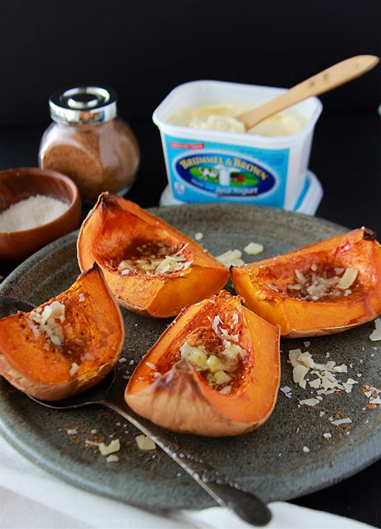 Sweet and Savory Butternut Squash is the perfect side dish to any meal! www.cookingwithruthie.com