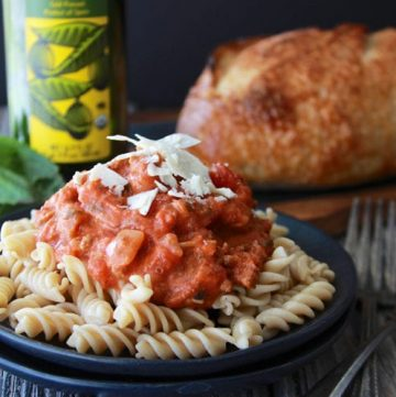 Bolognese Sauce Recipe is a traditional red sauce from Italy that's enjoyed on a variety of noodles! by cookingwithruthie.com