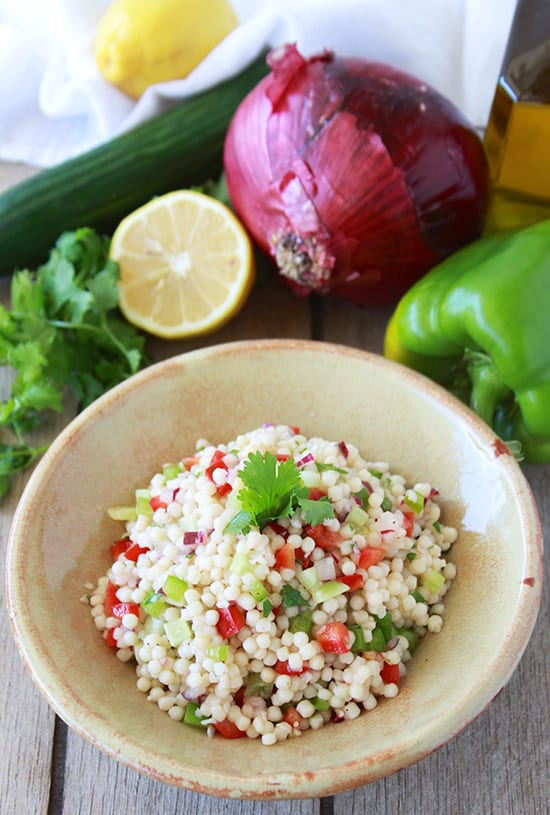 Mediterranean Couscous Salad & Catania, Italy are two must-do's for your bucket list! www.cookingwithruthie.com