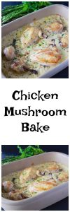Chicken Mushroom Bake Recipe is a classic comfort food that you're sure to love! www.cookingwithruthie.com