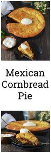 Mexican Cornbread Pie Recipe is a delicious twist on the classic shephard's pie using jiffy cornbread and it's a one-dish dinners! by cookingwithruthie.com