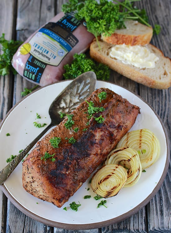 Southern Pork Loin Recipe is simple to make and it's perfect for grilling season! by cookingwithruthie.comSouthern Pork Loin Recipe is simple to make and it's perfect for grilling season! by cookingwithruthie.com