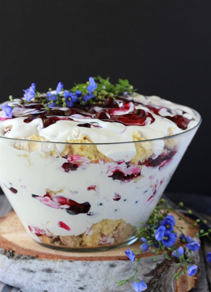 Blueberry Trifle Recipe is the perfect dessert to feed a crowd and it'll make you the star of the party! by cookingwithruthie.com