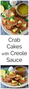 Our Crab Cakes with Creole Sauce Recipe will bring back memories of your favorite coastal restaurant! www.cookingwithruthie.com