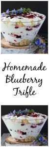 Homemade Blueberry Trifle Recipe is the perfect dessert recipe to feed a crowd and it'll be sure to make you the star of the party! www.cookingwithruthie.com