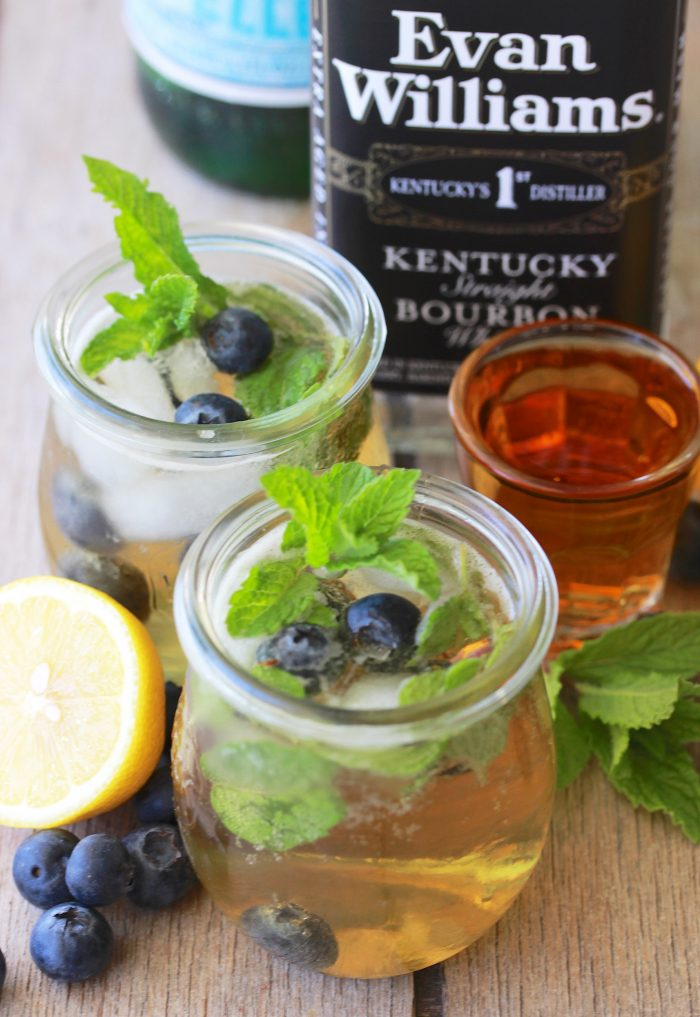 Blueberry Mint Julep Recipe is always a good choice for hot summer days! by cookingwithruthie.com