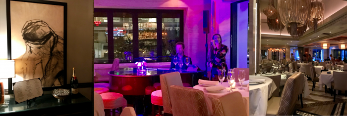 Mastro's Steakhouse piano singers in Beverly Hills, California