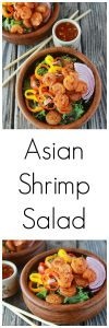 Asian Shrimp Salad is a healthy lunch to keep you going through the afternoon! www.cookingwithruthie.com