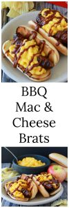 BBQ Mac & Cheese Brats Recipe are fun for summertime BBQ's with the kids! www.cookingwitruthie.com
