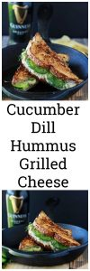 Cucumber Dill Hummus Grilled Cheese Recipe will surprise and bring you delight with every bite! www.cookingwitrutie.com