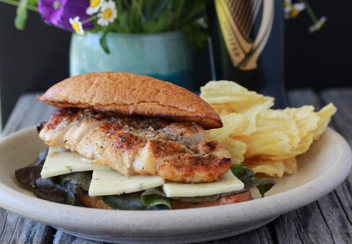 Grilled Chicken with Spicy Mayo Sandwich Recipe is deliciousness with a kick! by cookingwithruthie.com