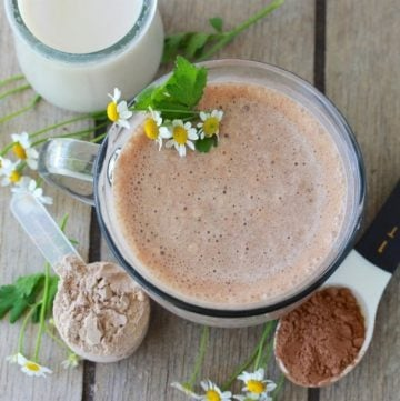 Starbucks Chocolate Smoothie Recipe is simple to make at home and every bit as good! by cookingwithruthie.com
