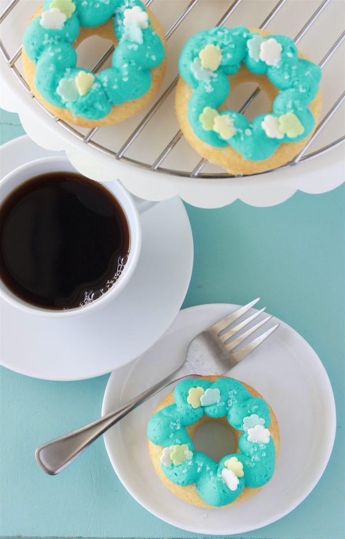 Tiffany Blue Baked Donuts 1