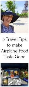 5 Travel Tips to make Airplane Food Taste Good because, unfortunately, we've all had some less than appetizing meals on planes! www.cookingwithruthie.com