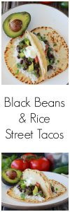 Black Beans and Rice Street Tacos Recipe is a flavorful Tex-Mex Dinner! www.cookingwithruthie.com