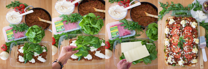 Mediterranean Lasagna Recipe brings healthy and delicious to your dinner table! The whole family will love it!! by cookingwithruthie.com