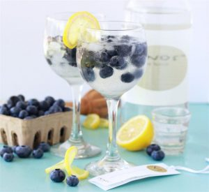 Blueberry Lemon Mastiha Cocktail & Greece Travel will bring the beauty of the Mediterranean right to you! by cookingwithruthie.com