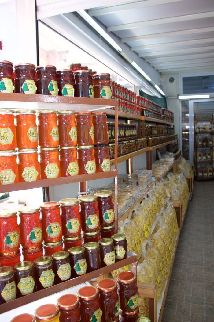 Honey store in Prokolpi, Greece