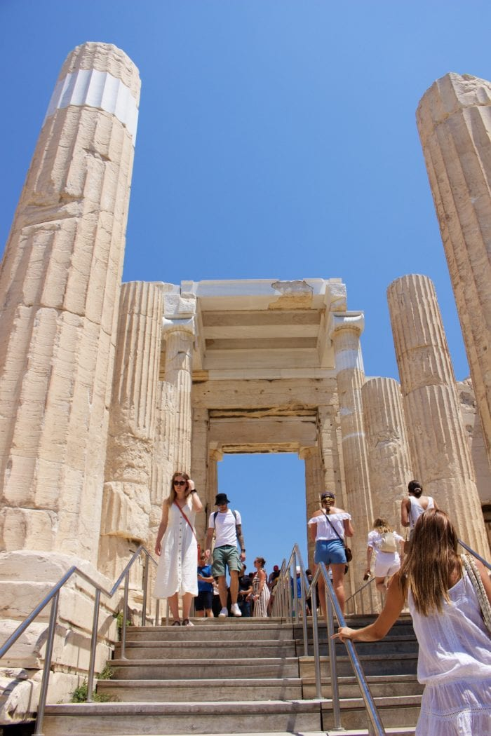 Parthenon, Acropolis in Athens by cookingwithruthie.com