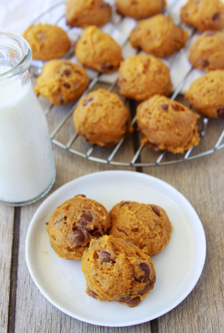 Cardamom Pumpkin Chocolate Chip Cookies Recipe are lovely spin on an autumn favorite! by cookingwithruthie.com