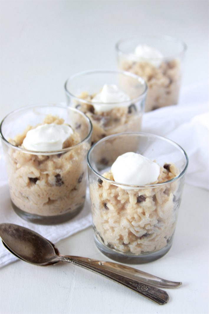 Great Grandma Cora's Rice Pudding Recipe is the best I've ever tasted and it's been in our family for generations! by cookingwithruthie.com