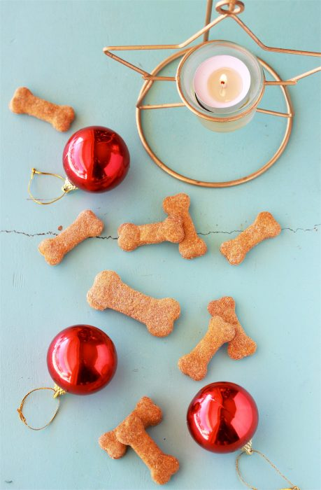 Holiday Dog Biscuits Recipe is for the furry pups in your family! by cookingwithruthie.com