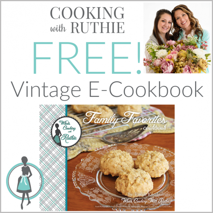 Free Vintage E-Cookbook! by cookingwithruthie.com