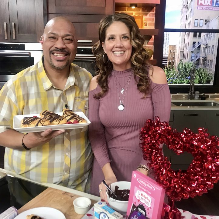 Raspberry Cream Empanadas on FOX13 The Place by cookingwithruthie.com