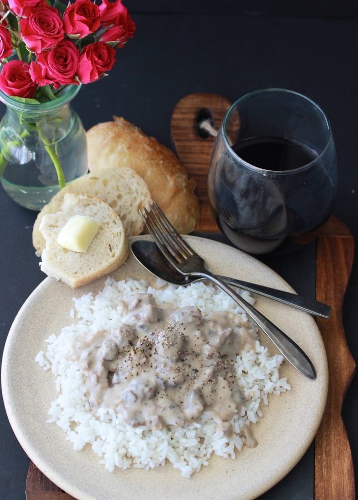 Our Elk Steak Stroganoff Recipe is a slow cooker recipe for your elk or venison steak! by cookingwithruthie.com