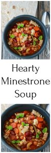 Vegan Minestrone Soup Recipe is flavorful, colorful, and perfect for wintertime! by cookingwithruthie.com
