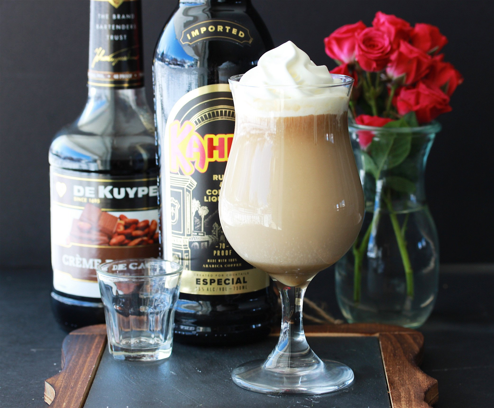 Our Irish Coffee With Kahlua & Cremé De Cacao Recipe is a fun twist on the classic Irish cocktail! by cookingwithruthie.com