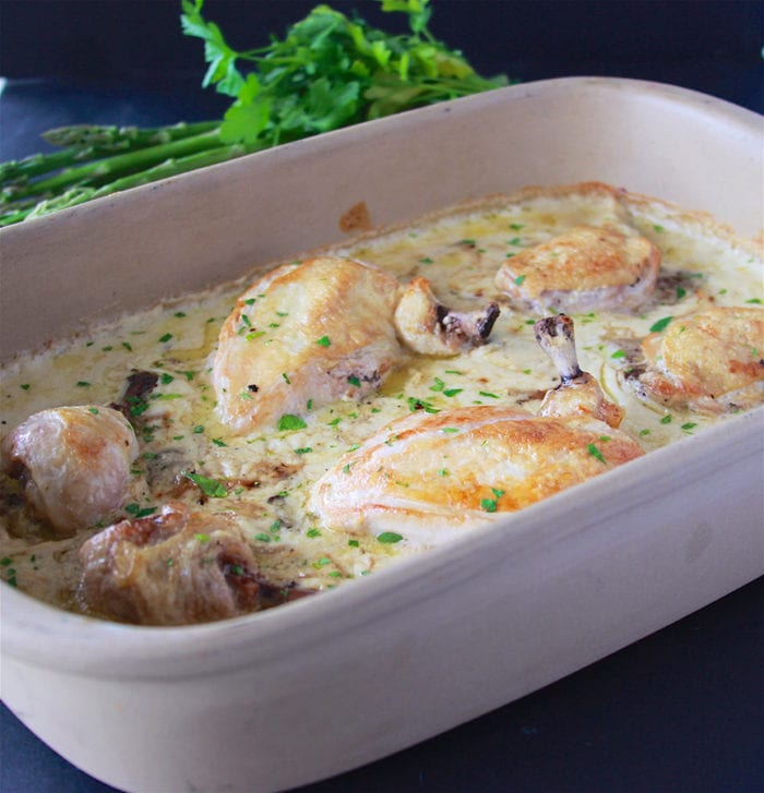 Chicken Mushroom Bake is a favorite during the cold winter months!