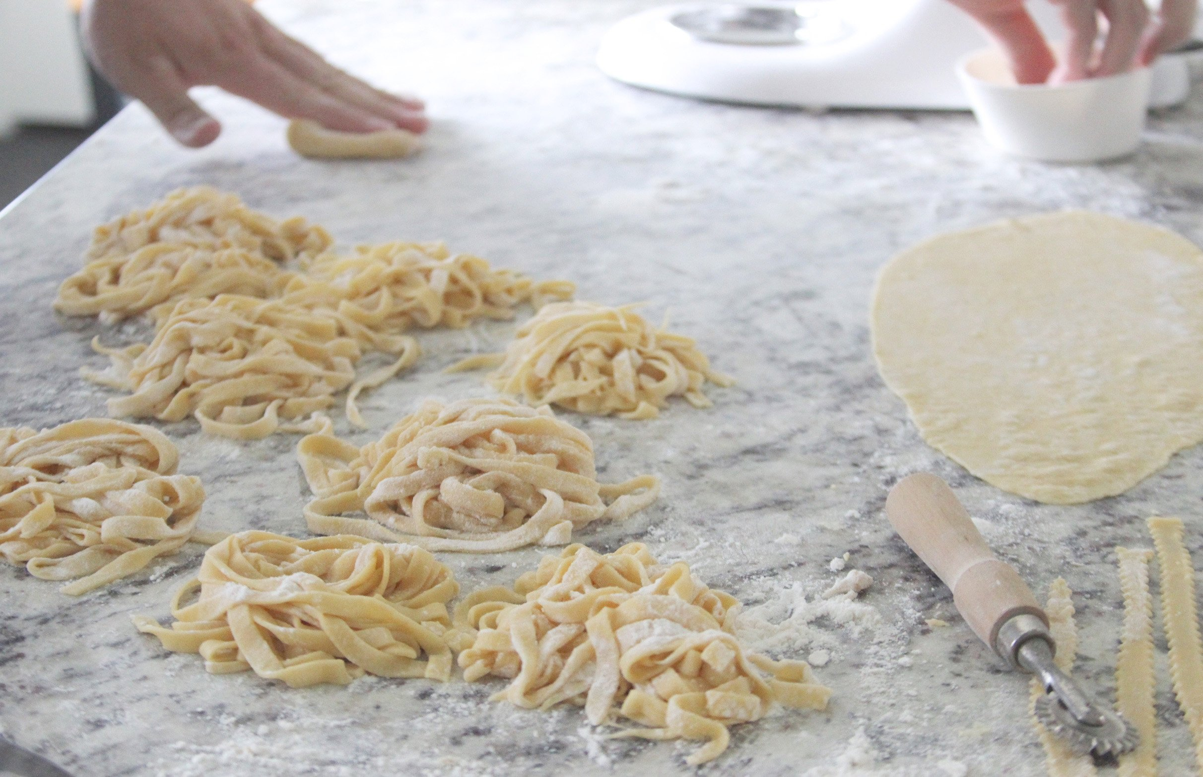 Our Homemade Italian Pasta Noodles Recipe is a delightfully fun to make and it's pantry friendly too!by cookingwithruthie.com