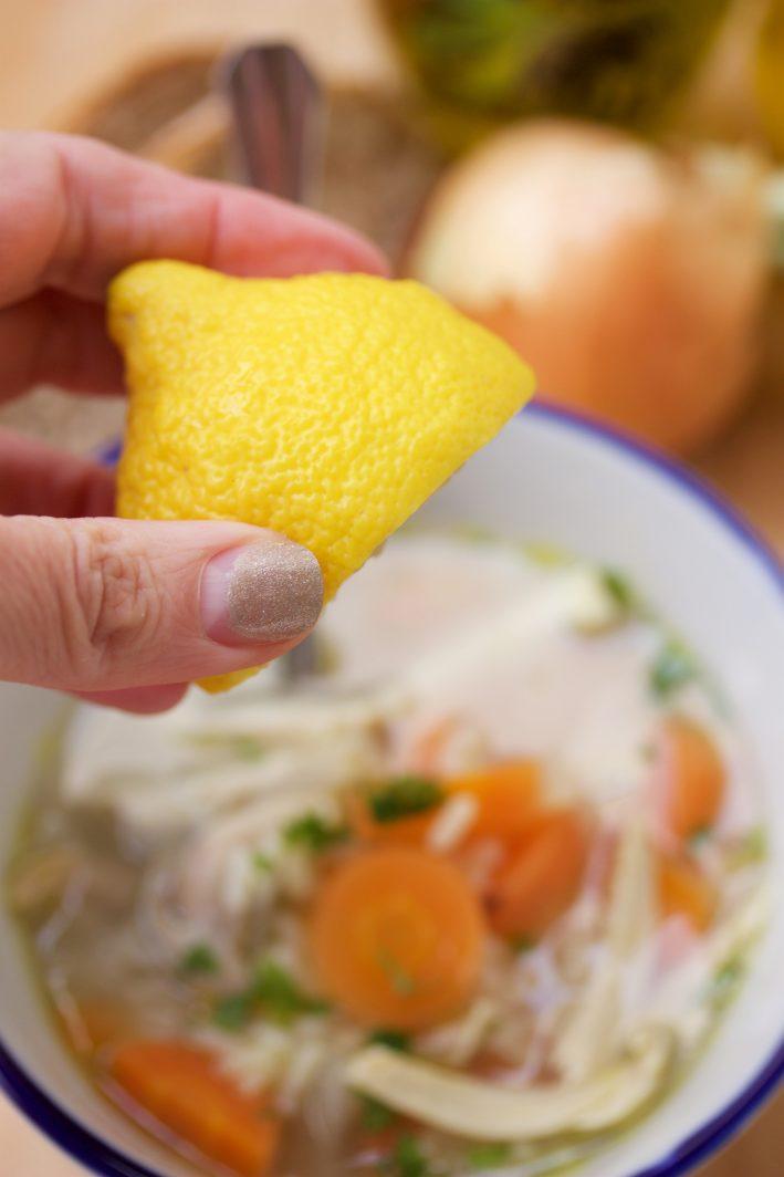 Lemon Chicken Rice Soup 2
